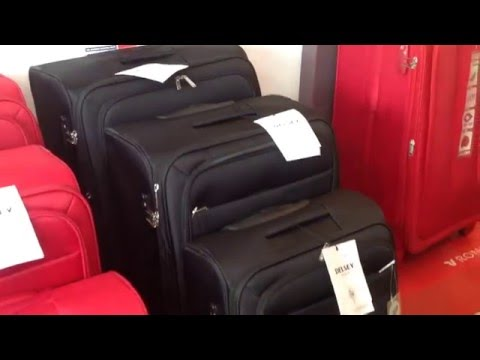 Valise trolley souple INDISCRETE DELSEY chez S'Cale Boutik maroquinerie bagage 28 av auber nice