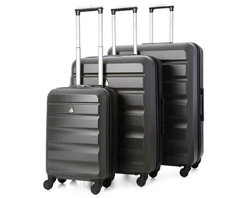 Juego de 3 maletas rígidas, con 4 ruedas y baratas - Aerolite ABS