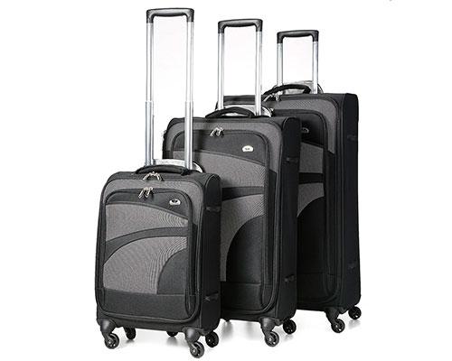 Set de 3 maletas blandas con 4 ruedas y baratas | Aerolite Ligero Spinner