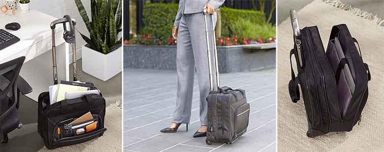 Maletín barato para portátil y equipaje - AmazonBasics Trolley