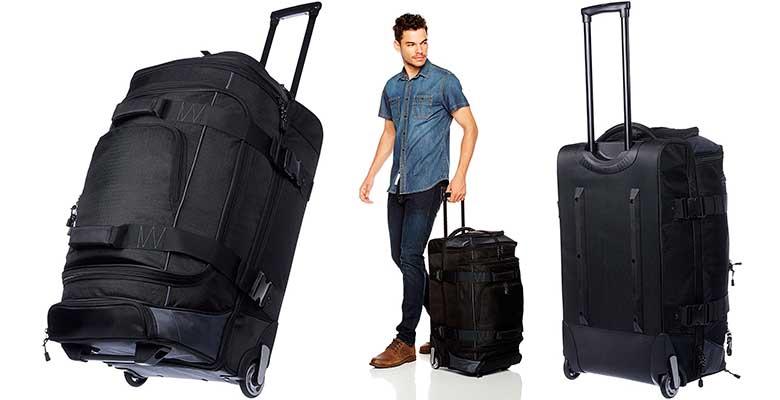 Bolsa de viaje con 2 ruedas y barata - AmazonBasics Ripstop