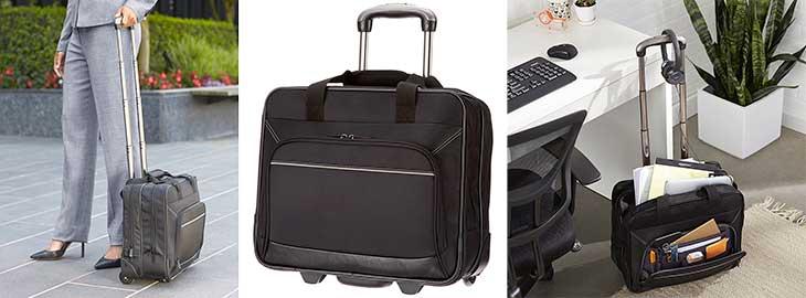 """Trolley con 2 ruedas tipo """"aviador"""" para portátil y equipaje - AmazonBasics Trolley"""