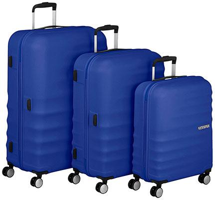 Set de 3 maletas rígidas con 4 ruedas y diseño juvenil - American Tourister Wavebreaker