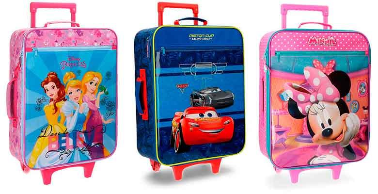 Maletas blandas Disney para niños y niñas