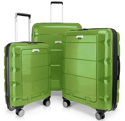 Juego de 3 maletas rígidas de gran calidad - Hauptstadtkoffer Britz