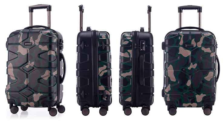 "Maleta original con diseño ""camuflaje"" tipo militar - Hauptstadtkoffer"