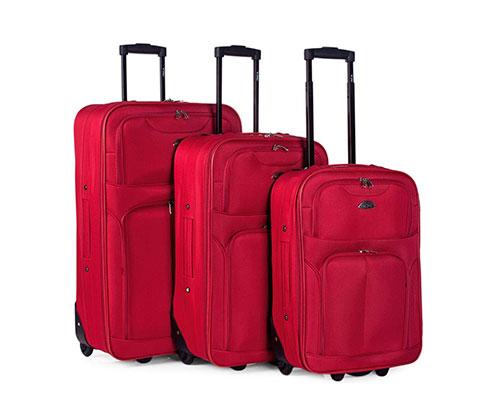 Set de 3 maletas blandas con 2 ruedas - Itaca I52800