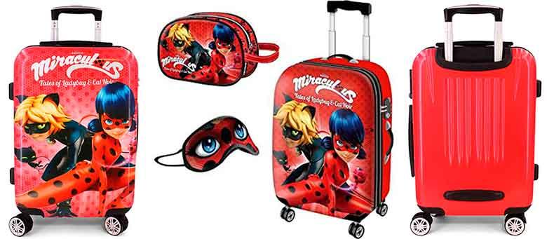 Maleta infantil y pack de viaje de Miracolous: Las aventuras de Ladybug y Cat Noir