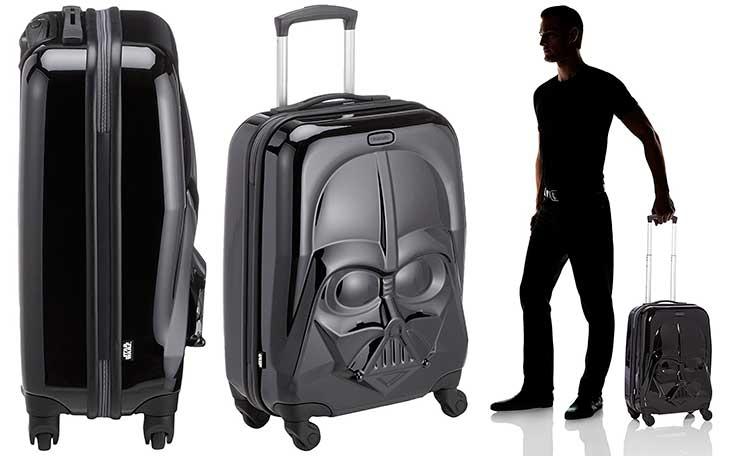 Maleta pequeña con la forma de la cara de Darth Vader - Samsonite Star Wars Ultimate Spinner