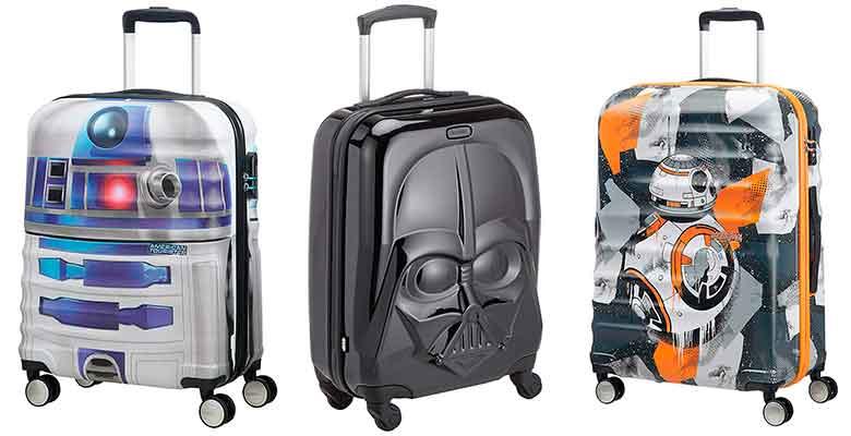 Maletas originales con diseños de Star Wars - American Tourister y Samsonite