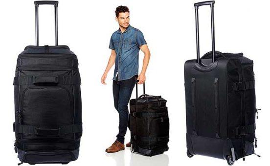 Bolsa de viaje con 2 ruedas económica y con buena capacidad - AmazonBasics Ripstop